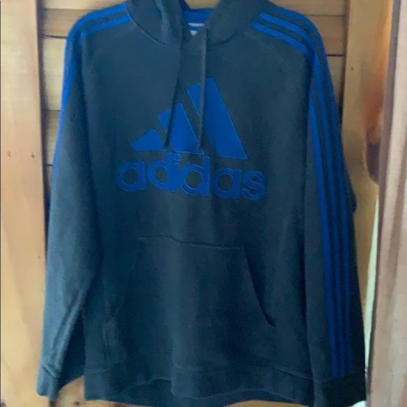 adidas hoodie mens blue